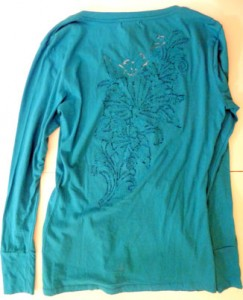 Turquoise long-sleeves (rear)